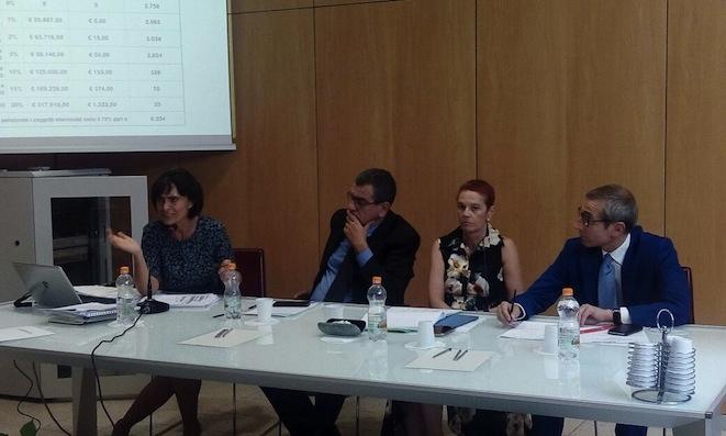 Da sinistra: Mimma Iorio, Bepi Martellotta, Marina Macelloni e Raffaele Lorusso