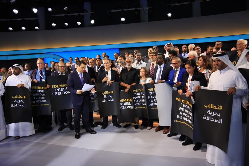I giornalisti di tutto il mondo a Doha
