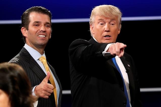 Donald Trump padre e figlio