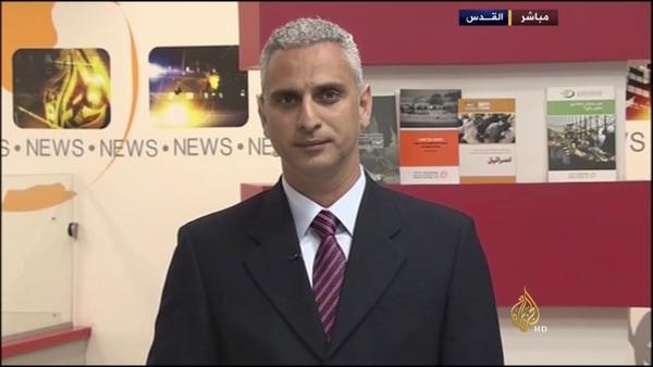 Elias Karram, capo corrispondente di Al Jazeera a Gerusalemme