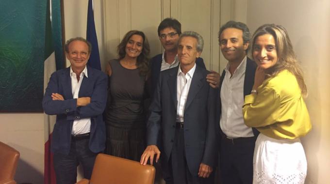 Da sinistra: Giuseppe Vicari, Rosy Ardizzone, Lino Morgante, Antonio Ardizzone, Federico Ardizzone e Giada Ardizzone
