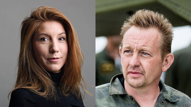 Kim Wall e il suo presunto assassino Peter Madsen
