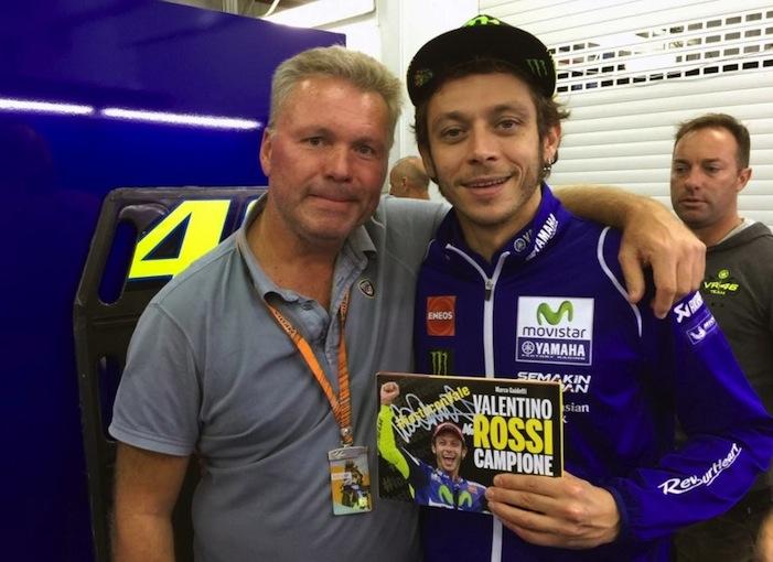 Marco Guidetti con Valentino Rossi