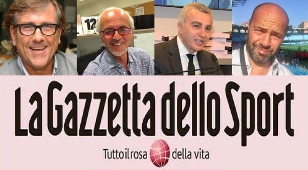 Il nuovo Cdr della Gazzetta dello Sport: Mimmo Cugini, Michele Ferrante, Gianluca Gasparini e Andrea Pugliese