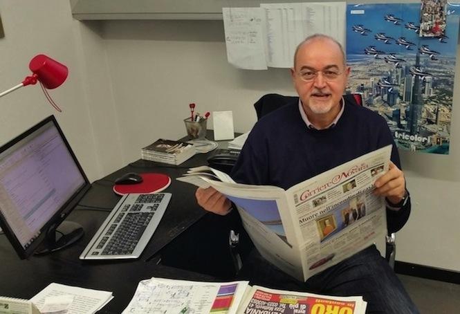Roberto Azzoni, direttore del Corriere di Novara