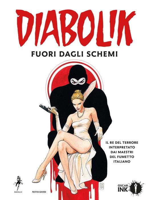 La copertina del volume speciale di Diabolik realizzato dai maestri del fumetto
