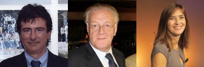 Il presidente Ottavio Lucarelli, il vicepresidente Mimmo Falco e il segretario Titti Improta