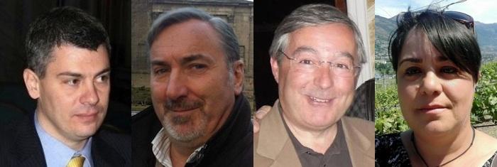 Tiziano Trevisan, Bruno Fracasso, Pier Paolo Civelli e Simonetta Padalino