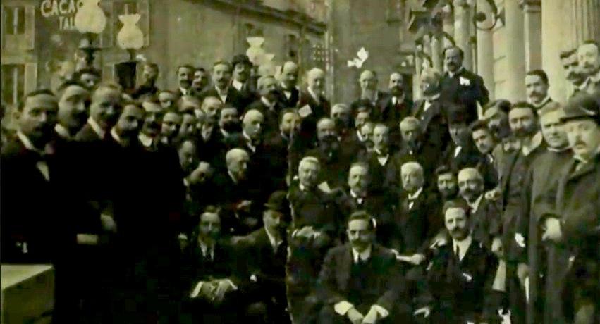 La foto del I Congresso Fnsi celebrato nel febbraio 1908, custodita dalla Fondazione Murialdi