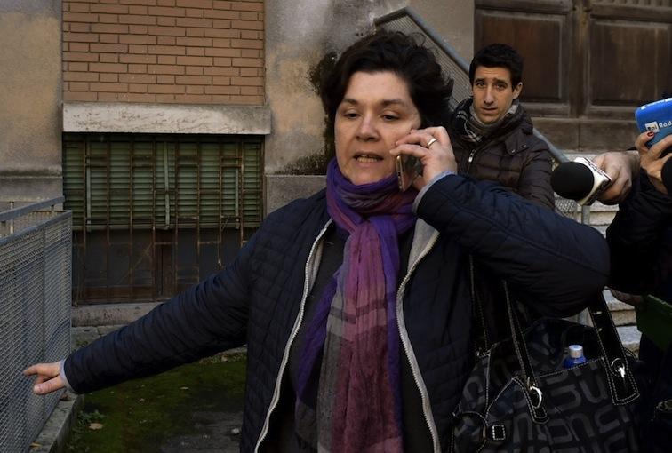 Maria Concetta Riina oggi davanti all'Ospedale di Parma