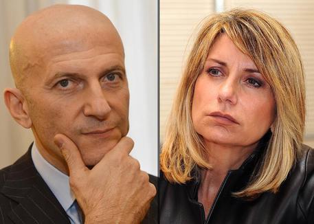 Augusto Minzolini e Tiziana Ferrario