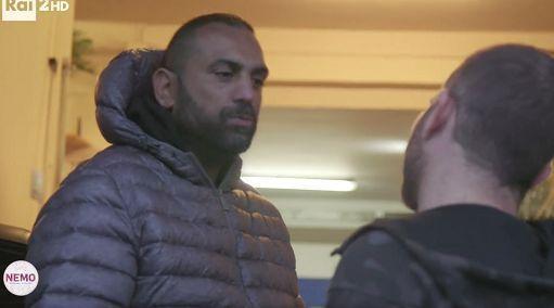 Roberto Spada poco prima della violenta aggressione a Daniele Piervincenzi