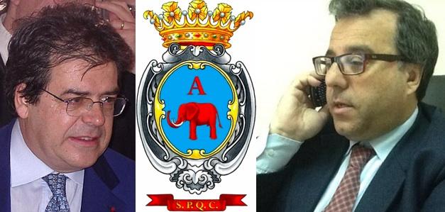 Il sindaco di Catania Enzo Bianco e il Capo Ufficio Stampa Nuccio Molino