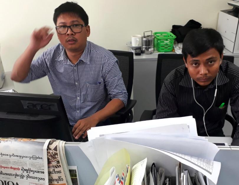 Ko Wa Lone (a sinistra) e Kyaw Soe Oo