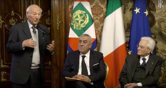 Piero Angela, Benedetto Valentino e il capo dello Stato Sergio Mattarella