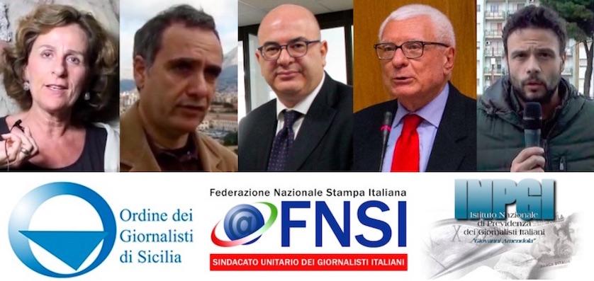 Da sinistra: Maria Pia Farinella, Giulio Francese, Carlo Parisi, Giancarlo Tartaglia e Andrea Tuttoilmondo