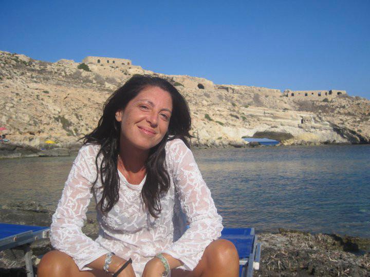 """Cristiana Matano nella """"sua"""" Lampedusa"""