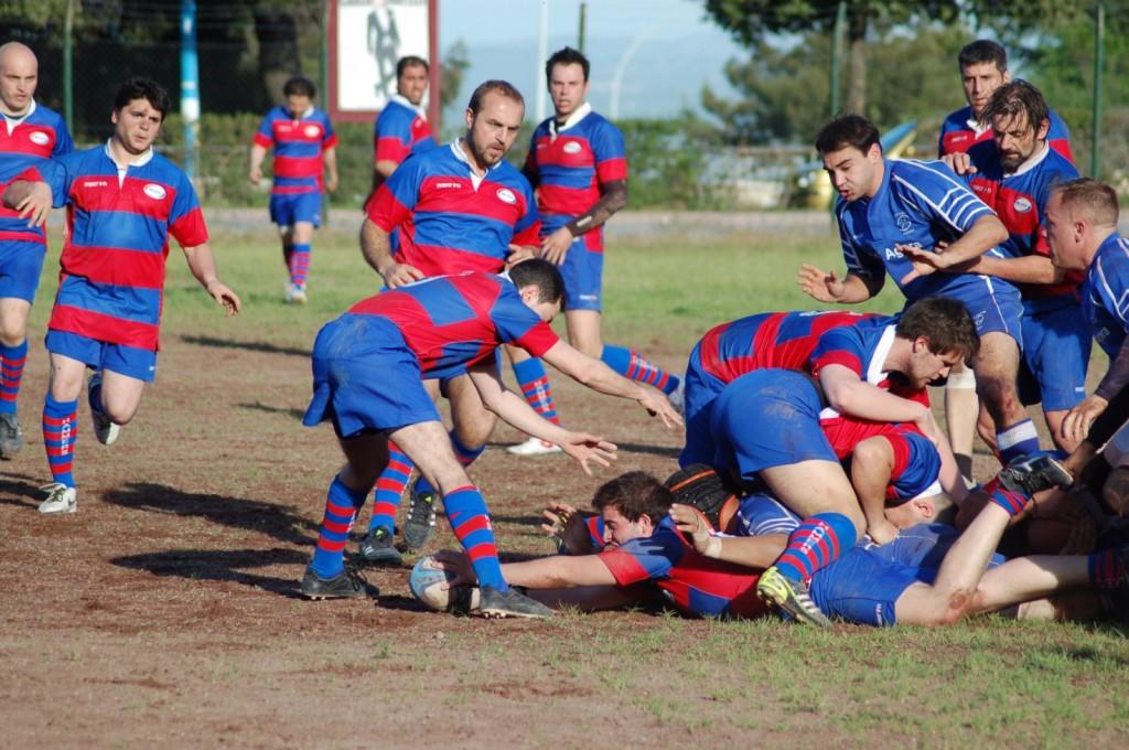 La squadra di rugby dell'Hammers Campobasso