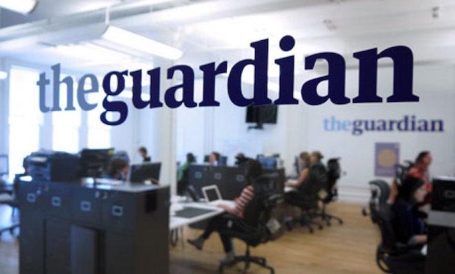 La redazione del Guardian, a Londra