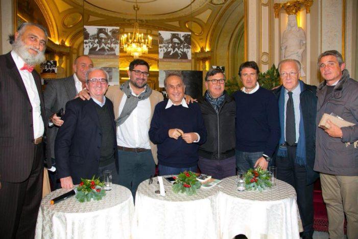 Emilio Fede con i fondatori dell'associazione