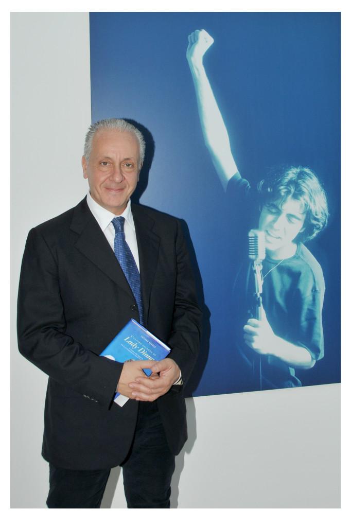Luciano Regolo e un'immagine di Christian