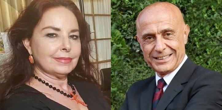 Maria Grazia Mazzola e Marco Minniti