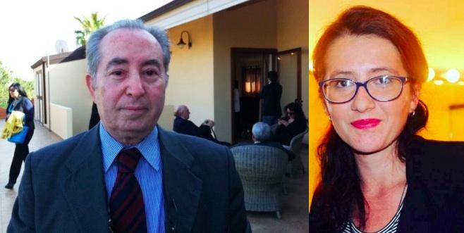 Mario Petrina e Sabrina Redi, la giovane catanese vincitrice del premio intitolato al grande giornalista