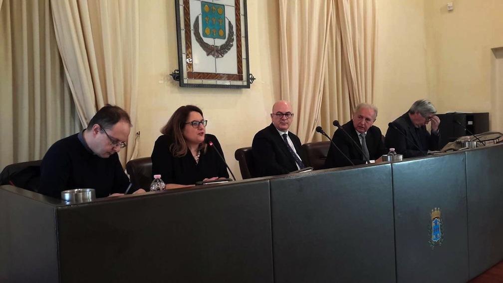 Don Ivan Maffeis, Anna Russo, Carlo Parisi, Lorenzo Del Boca e Giuseppe Soluri
