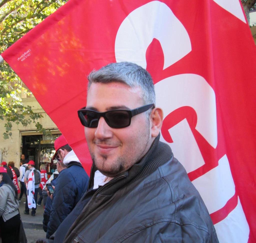 Andrea Lumino, segretario provinciale Slc-Cgil di Taranto