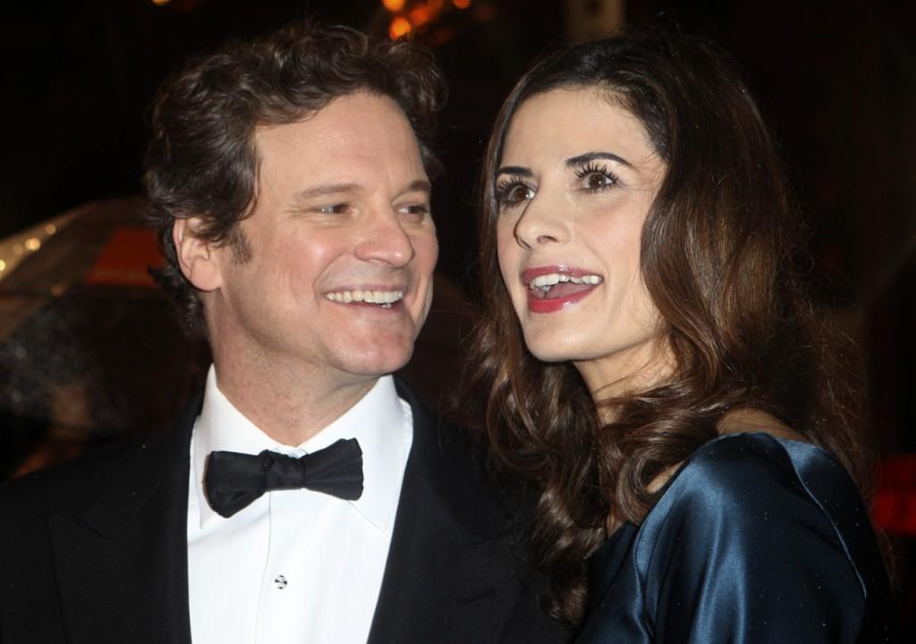 Colin Firth e Livia Giuggioli (Ap)