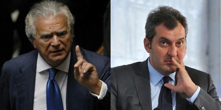 Denis Verdini e Mario Calabresi