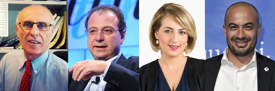 Primo Di Nicola (M5S), Giorgio Mulè (M5S), Dalila Nesci (M5S), Gianluigi Paragone (M5S)