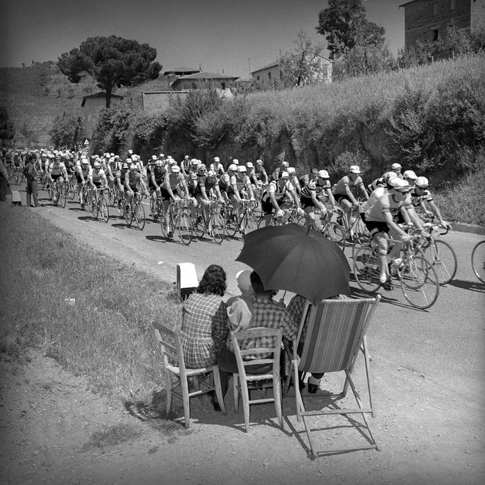 20 maggio 1959, il passaggio del 42° Giro d'Italia nella tappa Arezzo–Roma