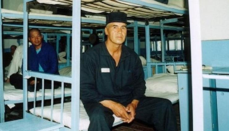 Yusuf Ruzimuradov in una foto scattata in pringione prima di essere scarcerato dopo 19 anni di carcere