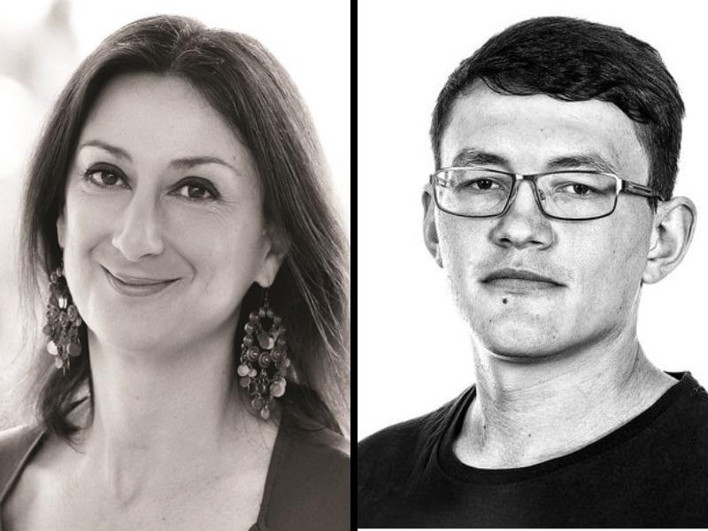 Daphne Caruana Galizia e Jan Kuciak