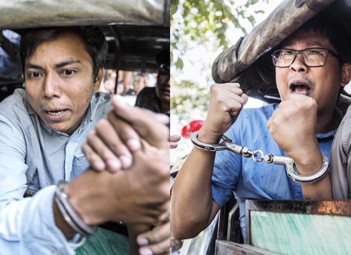 Il brutale arresto di Kyaw Soe Oo e Wa Lone