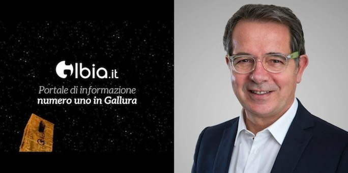 Il logo del quotidiano Olbia.it ed il sindaco di Olbia Settimo Nizzi