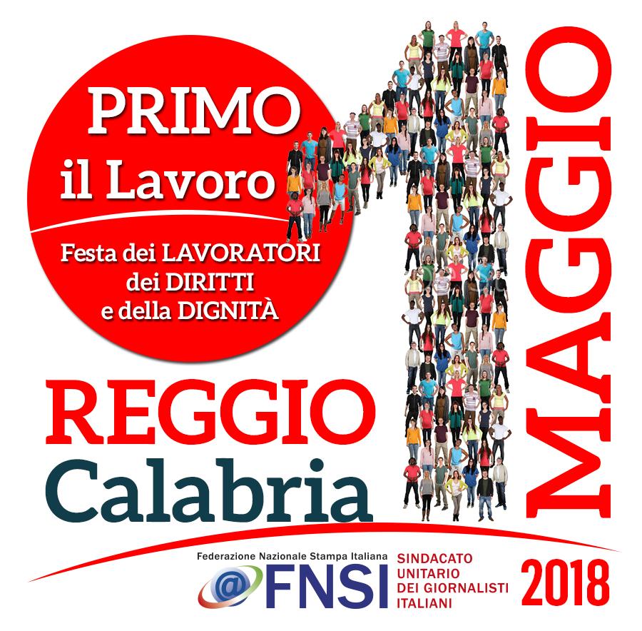 Primo Maggio della Fnsi a Reggio Calabria