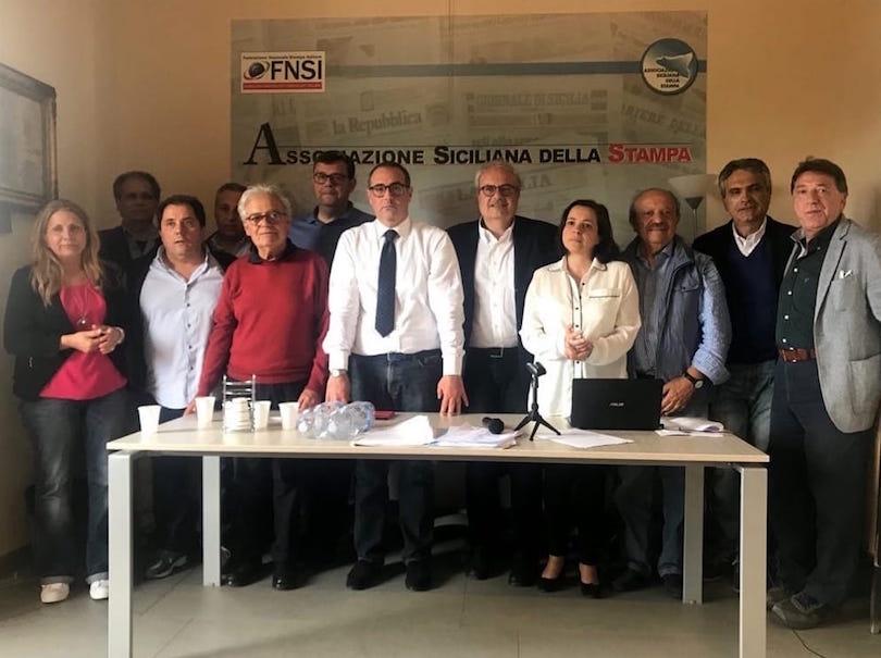 La nuova Giunta Esecutiva dell'Associazione Siciliana della Stampa