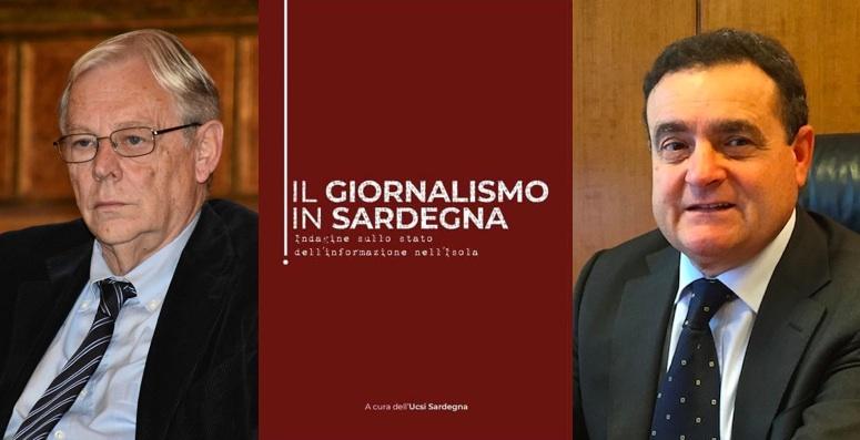 Da sinistra: Francesco Birocchi (presidente dell'Odg Sardegna) e Franco Siddi (Cda Rai ed ex segretario generale Fnsi)