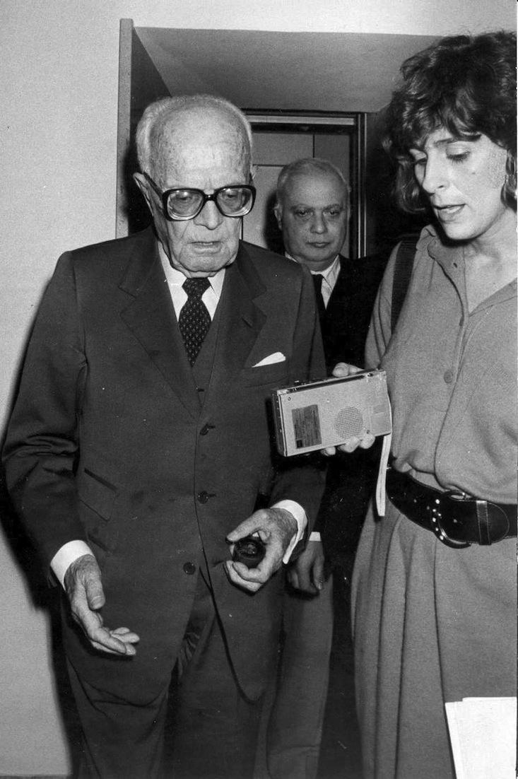 Maria Pia Farinella intervista l'allora presidente della Repubblica Sandro Pertini