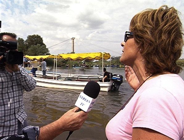 Maria Pia Farinella intervistata sulle rive dell'Eufrate