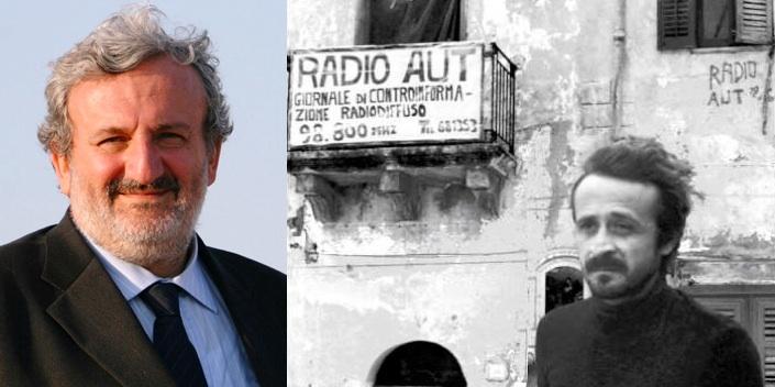 Il presidente della Regione Puglia, Michele Emiliano, e Peppino Impastato, ucciso il 9 maggio