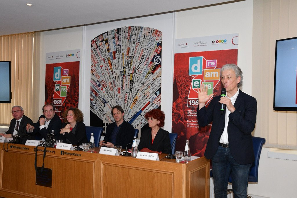 """Riccardo Luna presenta """"Dreamers"""", la mostra sul '68 che lui stesso ha ideato"""