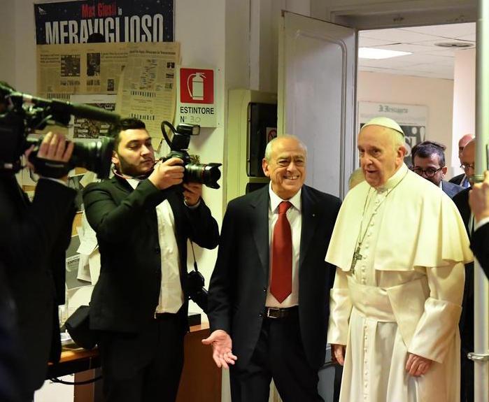 """Il Papa al Messaggero: """"Grazie per il vostro lavoro"""""""