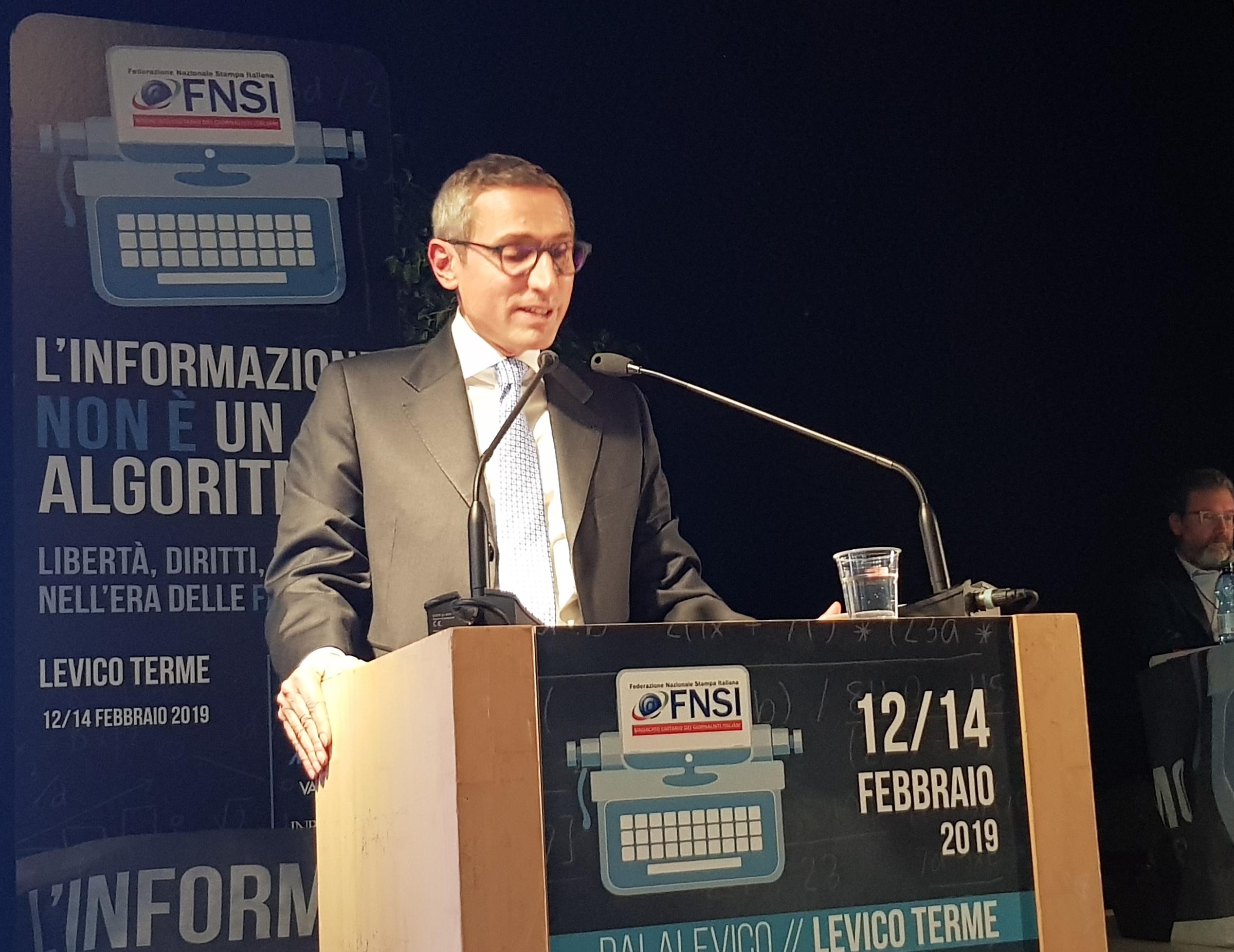 Raffaele Lorusso segretario generale Fnsi