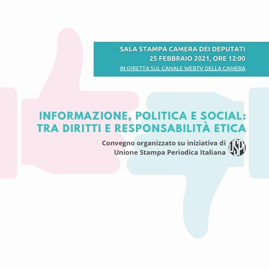 Informazione, politica e social: etica e diritti